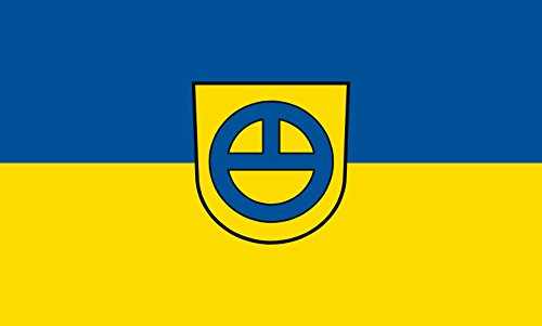 Unbekannt magFlags Tisch-Fahne/Tisch-Flagge: Leinfelden-Echterdingen 15x25cm inkl. Tisch-Ständer