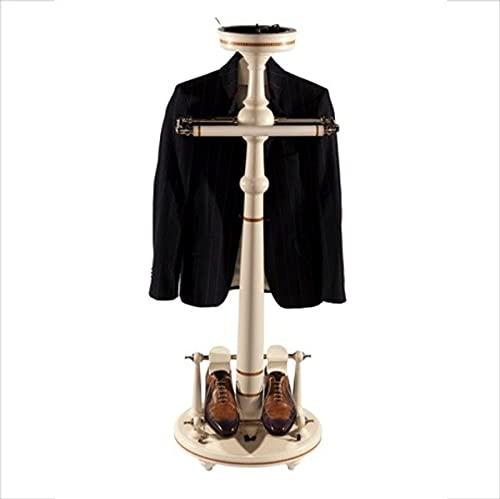 Casa Padrino Designer Luxus Garderoben Ständer New York Banker Stil - Weiss- Dressboy - Kleiderständer Anzugständer - Barock Empire Art Deco Jugendstil Biedermeier