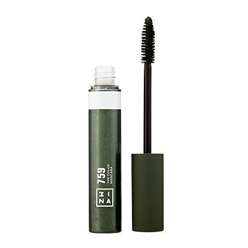 3ina Makeup - Vegan - Cruelty Free - The Color Mascara 759 - Bunter Mascara für Volumen und Länge - Bunte Wimperntusche - Hochpigmentiert - Langhaltende und Wasserfest - Olivgrün