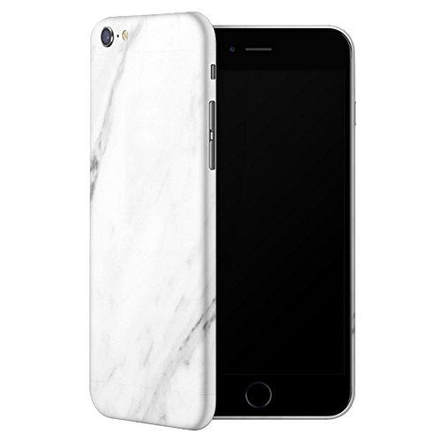 IDTB SKINS Adesivi Skin Sticker Pellicola (Non Custodia Cover),Smartphone Wrapping Ultra Sottile e Resistente Alle Impronte Digitali Caso (iPhone 6/6s Plus, Marmo Bianco)