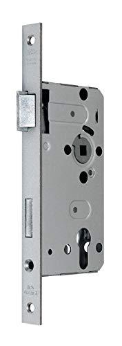 BKS Standard Zimmer Türschloss für Profilzylinder 55/72/8, Stulp: 20 x 235mm eckig, DIN Links incl. SN-TEC® Montageset