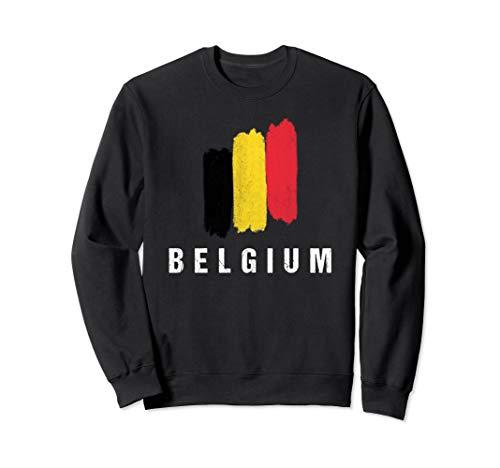 Gemalte Belgien Fahne / Belgische Flagge Fan Geschenk Sweatshirt
