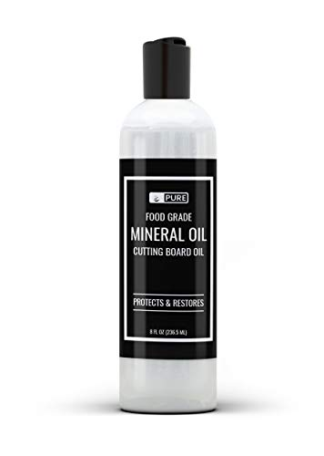 Pure Mineral Oil, Food Grade, USP Grade, For Cutting Boards, Butcher Blocks, Counter tops, Wood Utensils (8 oz (.5 lb))