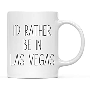 Andaz Press U.S. City 11oz. Coffee Mug Gift, I'd Rather Be in Las Vegas, Nevada, 1-Pack, Long Distance College Going Away Study Abroad Birthday Christmas Gifts by Andaz Press