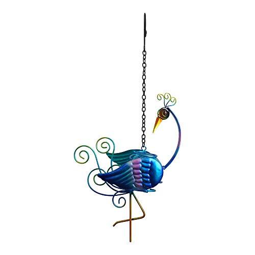 Comfy Hour Hängedeko Pfau aus Metall, Höhe 35,6 cm, inklusive Kette, Blau