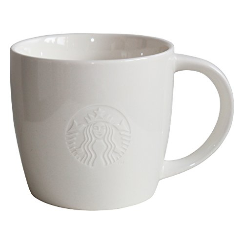 Starbucks Kaffeetasse Weiss Tasse Coffee Cup Mug Classic White Collectors Grande 16oz
