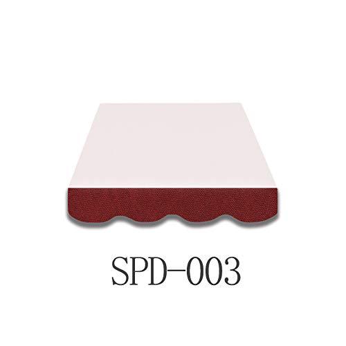 Home & Trends Markisen Volant Markisenbespannung Ersatzstoffe Polyester Maße 3 x 0.23 m 24 Markisenstoffen fertig genäht mit Bordeux (SPD003)