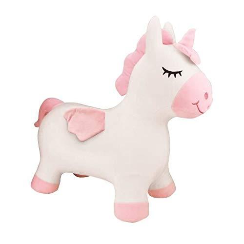 LEXIBOOK- Unicornio Saltadora Inflable, Bomba de Mano incluida, Plástico Seguro e Duradero, Rosa
