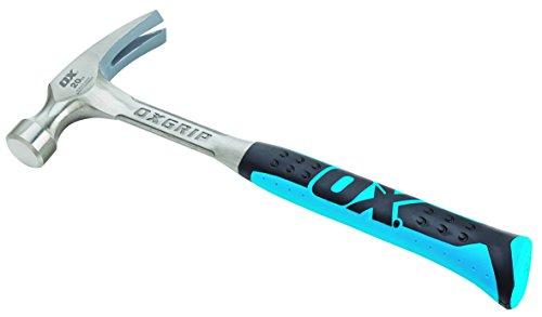 OX Straight Rip Claw Hammer 20 oz with Non-slip Handle - Precision Balanced Hammer Tool Ideal for...