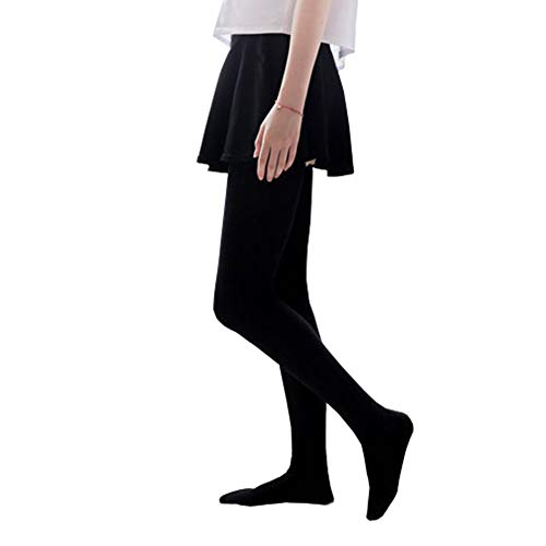 Bakicey Damen Kniestrümpfe Socken Overknee Strümpfe, Mädchen 80cm Strumpfhosen Baumwollstrümpfe Stützkniestrümpfe Gestrickte Strick Socken Hoch, Schwarz, 80