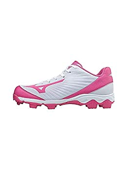 Mizuno 9-Spike Advanced Finch Franchise 7 Womens Fastpitch Softball Cleat Shoe White/Pink 7.5 B US