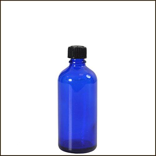 Flacon verre bleu 50 ml DIN18 - FLB50