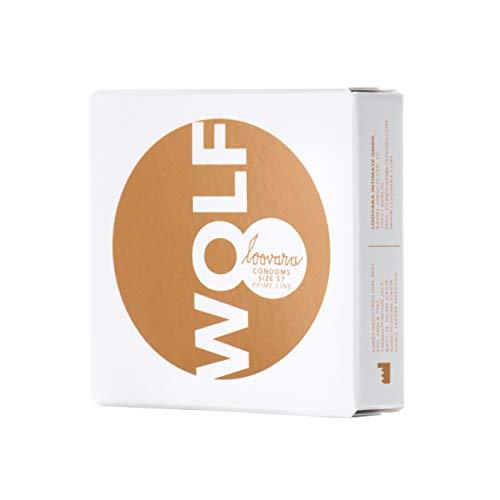 Loovara 3 Kondome in individuellen Größen - Kondomgröße 57 - Size Wolf - Kondome dünn aus Fair Rubber - Für mehr Fun & Feeling beim Sex - Vegane Präservative im 3er Pack