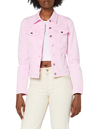 United Colors of Benetton Damen Giubbino Jeansjacke, Pink (Rosa Chiaro 921), Medium