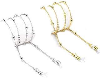 2 Pcs Women's Eyeglass Chains Sunglasses Eyewear Retainer - Eyeglass Strap Holder Reading Glasses Retainer Strap