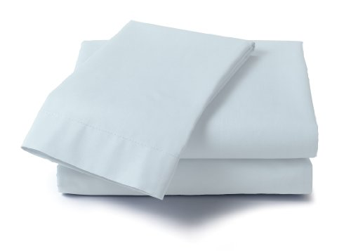 Dreamz 400 Thread Count Specialty Size Sheet Set for Queen Size Memory Foam Mattress, Blue