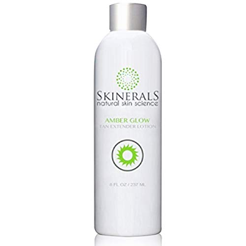 Skinerals Self Tanner Extender Lotion with Natural and Organic Ingredients to Extend Sunless Tan and Moisturize Skin (Amber Glow Tan Extender Lotion)