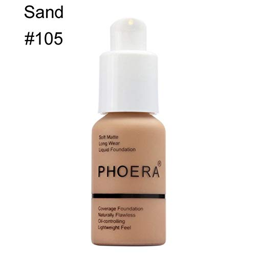 Lai-LYQღ Fond de Teint Liquide Imperméable Mat Couverture Complète Maquillage Correcteur Huile Correcteur, Plastique, 105-sand