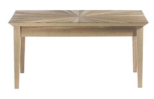 Guarnieri - Mesa de Comedor Extensible Angelica - Mesa Rectangular de Madera con Superficie incrustada - Dimensiones: 160-210 x 85 x 80 cm