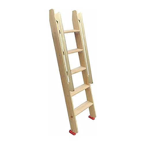 Taburete Escalera Escala de Madera Natural RV Litera, Escalera para Litera Que Ahorra Espacio con Pasamanos y Almohadillas Antideslizantes para Los Pies, para Niños / Adolescentes / Adultos, C