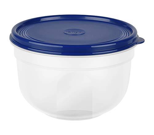 emsa Frischhaltedose SUPERLINE, 1,25 Liter, rund, blau, Plastik, 1,25 L
