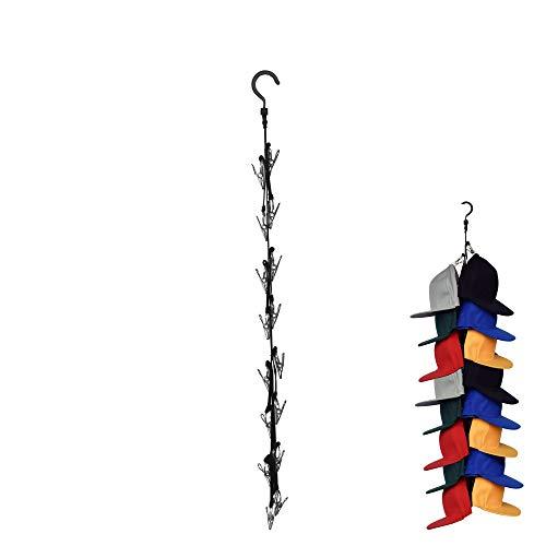 YYST Closet Hanging Cap Keeper Closet Cap Racks Hats Holders Closet Hook Storage Organizer - Fit Most Hats - No Hats Included (1)