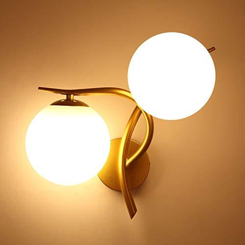 Wandlampe LED Wandlampe Korridor Wohnzimmer Hintergrund Wand Schlafzimmer Nachttischlampe Gold linken Abschnitt mit 5 Watt Licht