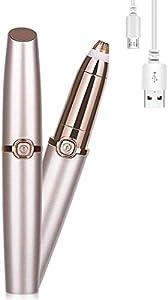 TTL Indolore Depilatore Ricaricabile per Sopracciglia per Donna,Portatile Elettrico Sopracciglia Rasoio Per Le Sopracciglia Rimodellante e Lisciatura, Oro Rosa