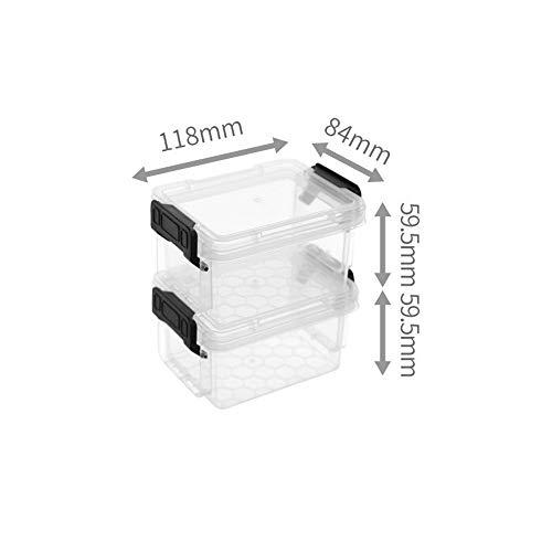 C-J-Xin Set van 2 Plastic Containers, met gesp Storage Top Box Badkamer Classroom Storage Box Ondergoed Sock Box Seal Opslag & Organisatie (Size : 11.8 * 8.4 * 5.9CM)