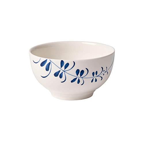 Villeroy & Boch Vieux Luxembourg Brindille Bol, Porcelaine Premium, Blanc/Bleu