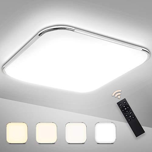Hengda 36W LED Deckenleuchte, Dimmbar Deckenlampe mit Fernbedienung, Helligkeit und Lichtfarbe Einstellbar, Schlafzimmerlampe für Wohnzimmer Bad Kinderzimmer Küche