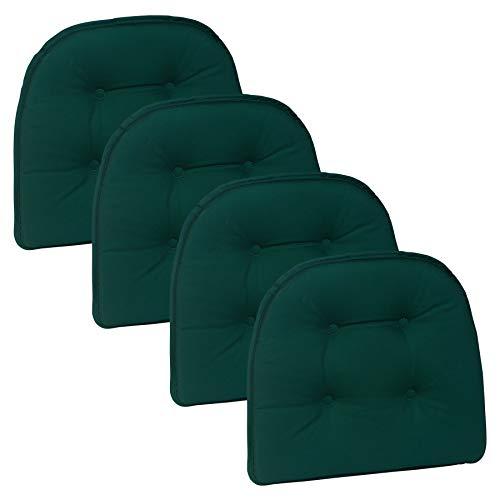 Klear Vu Twill Gripper Non-Slip Chairpad, Set of 4, Hunter Green