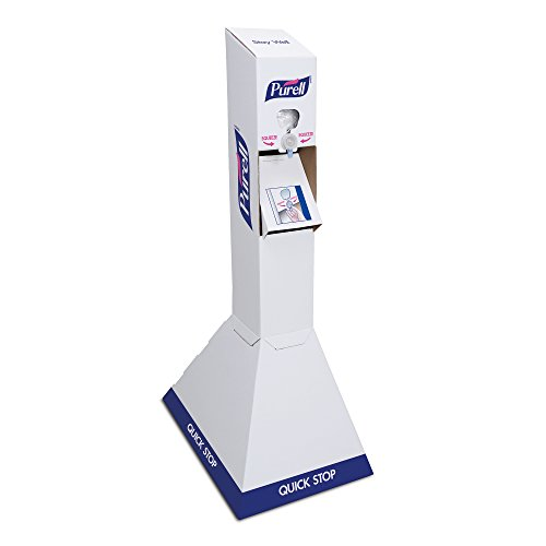PURELL Quick Stop Hand Sanitizer Floor Stand Starter Kit, 2 – PURELL NXT 1000 mL Sanitizer Refills + 1 – White Stand - 2156-DS