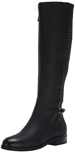 Cole Haan Women's Isabell Stretch Boot Mid Calf, Black Leather, 7 B US