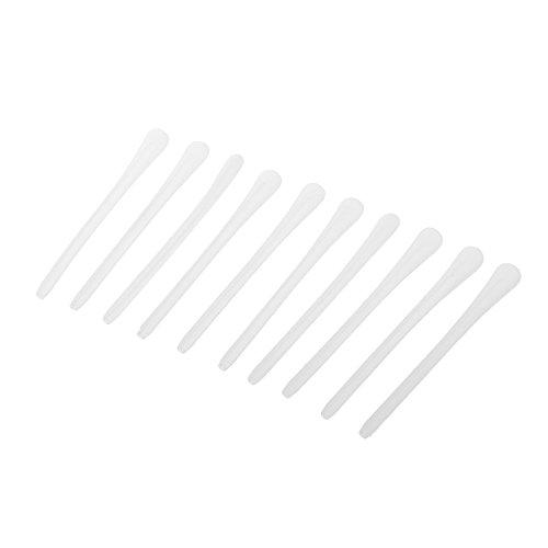 perfk 10pcs-Set Silikon Überzüge für Brillenbügel Rutschfeste Sport Brillen Bügelenden - Weiß