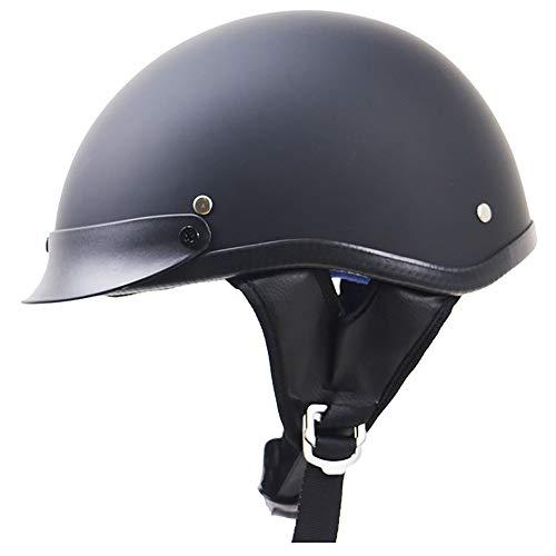 SXC Halbschale Jet-Helm Motorrad-Helm Roller-Helm Retro Motorrad-Helm Scooter-Helm Chopper Mofa Roller Retro ECE/DOT-Zertifizierung (55-62cm)