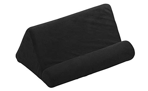 Imperius iPad Tablet Pillow Holder for Lap/Pillow for Tablet or iPad/Universal Phone and Tablet Holder for Bed Can Be Used Also on Floor, Desk, Chair, Couch - Tablet Sofa/Laptop Holder- Black