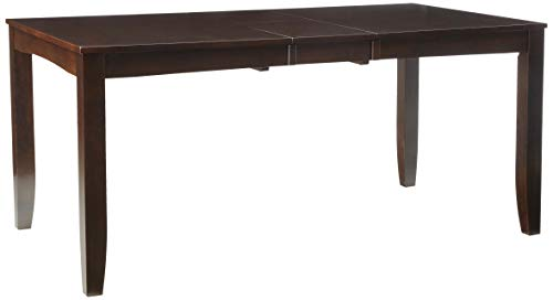 Lynfield Rectangular Dining Table 36'x66' with butterfly leaf in Cappuccino Finish