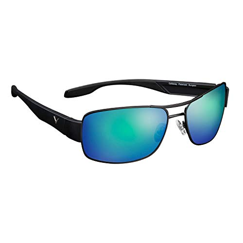 Callaway Sungear Eagle Golf Sunglasses, Gray Lens and Green Mirror