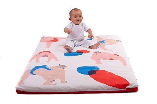 SleepAA Tappeto Gioco Bambino | Spesso | Pieghevole | Sfoderabile | Flessibile | Resistente | Imbottito | Lavabile | Trasportabile | Fabbricato In UE