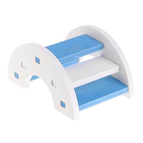 PULABO ハムスター木製PVCブリッジシーソーグッズ、小動物ペットモルモットリス面白いはしごのおもちゃポータブルで便利安全