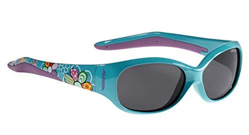 ALPINA FLEXXY KIDS Sportbrille, Kinder, petrol flowers, one size