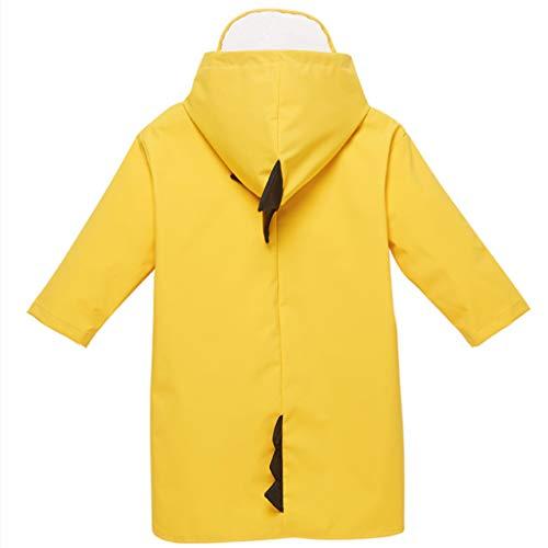 HESHI Regenmantel Sommerregenmantel Jungen und Mädchen atmungsaktiv Regenmantel Kindergarten 5-10 Jahre alt Mantel 100% wasserdicht Dünnschnitt (Color : Yellow, Size : XXXL)