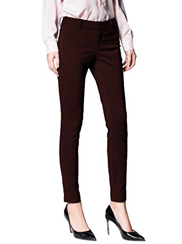SATINATO Women's Stretchy Trousers All Day Relax-Fit Pants (4, SaddleBrown)