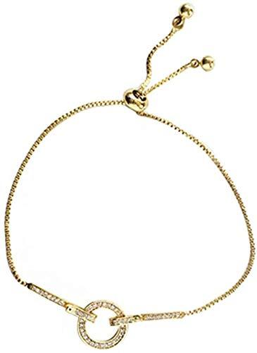 qiangloushui Collar The Simple Honey Pulsera Minority Design String Pull Ajustable Pulsera Temperamento Femenino
