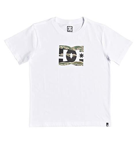 DC Shoes Star-Camiseta para Chicos 8-16, Niños, Snow White/Camo, 10/S