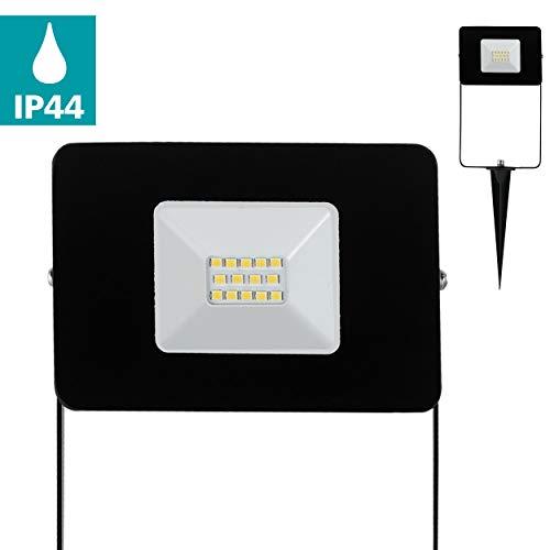 EGLO LED Außen-Strahler Faedo 4, 1 flammige Außenleuchte inkl. Erdspieß, Material: Alu, Farbe: Schwarz, Glas: klar, IP44
