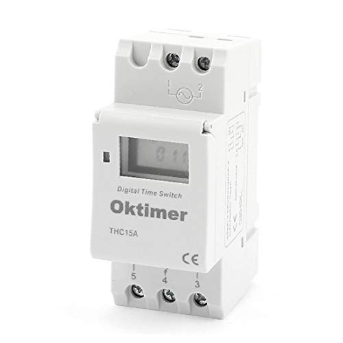 X-DREE THC15A Digital LCD alto rendimiento Power Weekly Programable esencial Switch Timer Switch bien hecho 220V-240V(6b6-ee-29-e33)