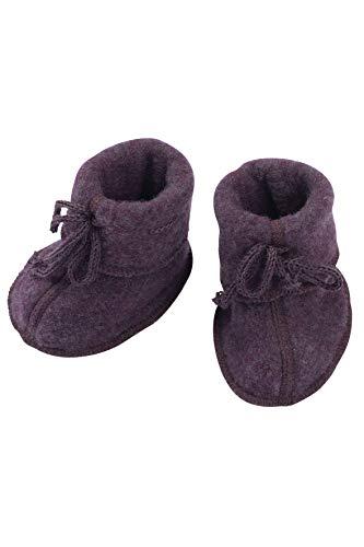 Engel Natur, Baby Fleece laarzen/schoenen, 100% organische wol (1 (0-3 maanden), paars melange)