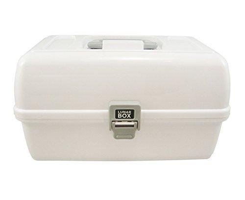 Lunar Box, boîte de rangement, de l'art, de l'artisanat et de la couture, 3 plateaux avec compartiments séparateurs réglables (blanc)